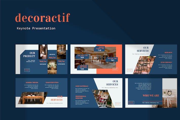 Cover Image For Decoractif - Furniture Keynote Presentation
