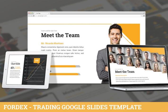 Thumbnail for Fordex - Trading Google Slides Template