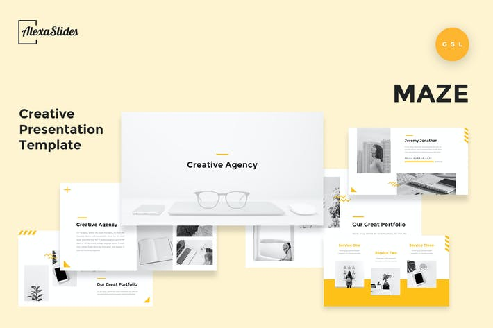 Cover Image For Maze - Creative Google Slides Template