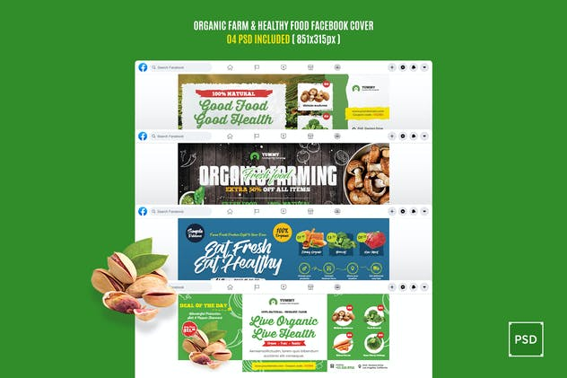 Organic Farm and Healthy Food Facebook Cover