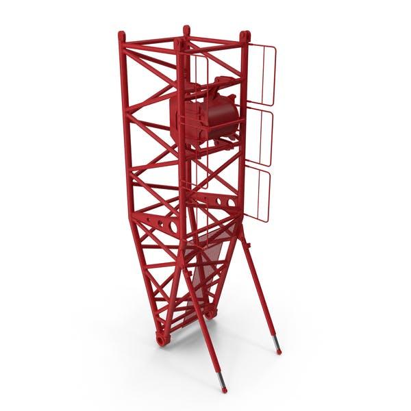 Кран S Поворотная секция 10м Красный