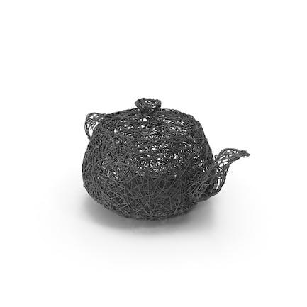 Чайник проволочной скульптуры