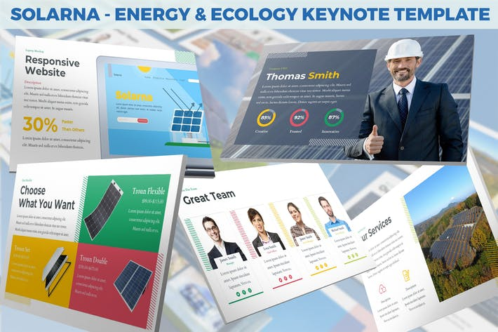 Thumbnail for Solarna - Energy & Ecology Keynote Template
