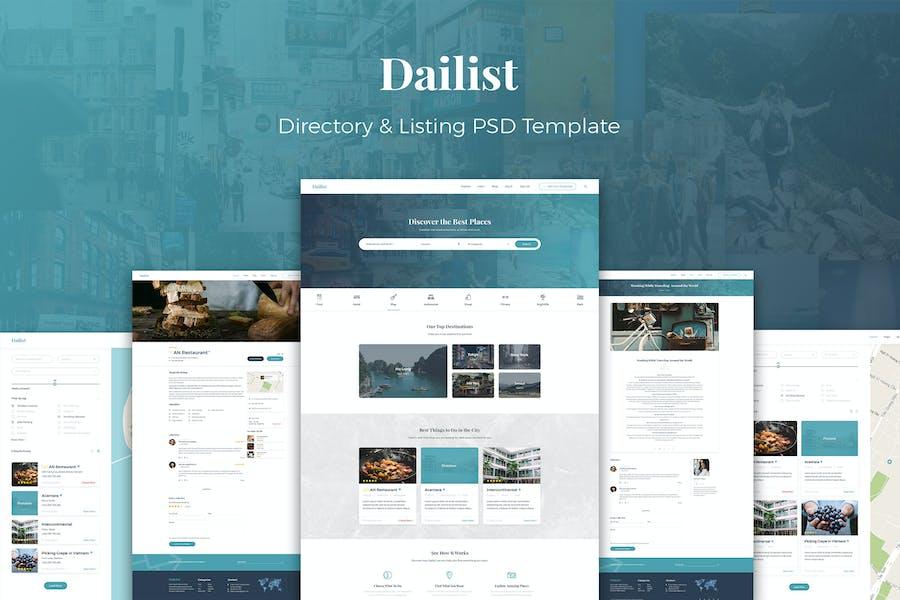 Dailist - Directory & Listing PSD Template