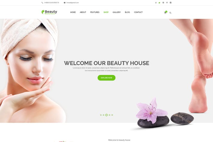 Cover Image For Beautyhouse - Health & Beauty HTML Template