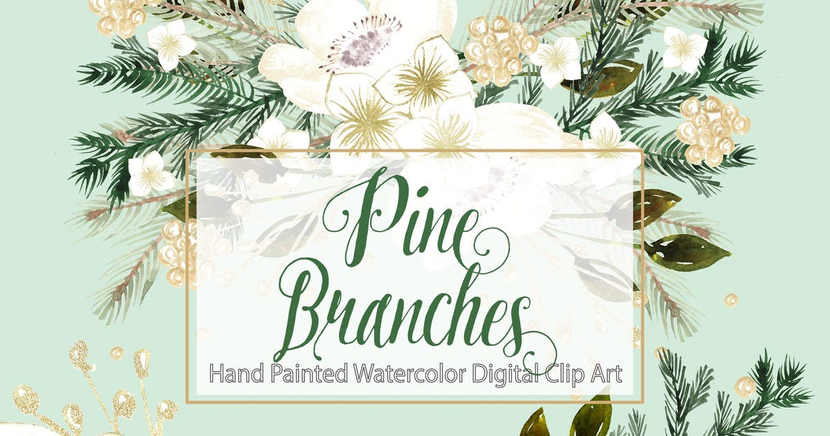 Download Watercolor mint christmas design by designloverstudio
