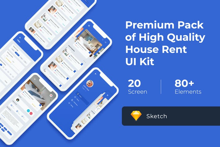Thumbnail for House Rent Mobile UI KIT for Sketch