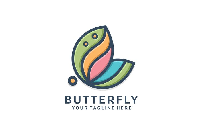 Thumbnail for ABSTRACT BUTTERFLY LINEART LOGO TEMPLATE