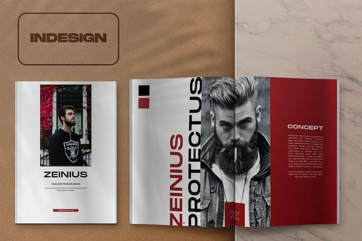 Thumbnail for Zeinius Magazine Template Design