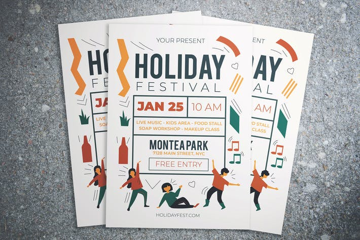 Thumbnail for Holiday Festival Flyer