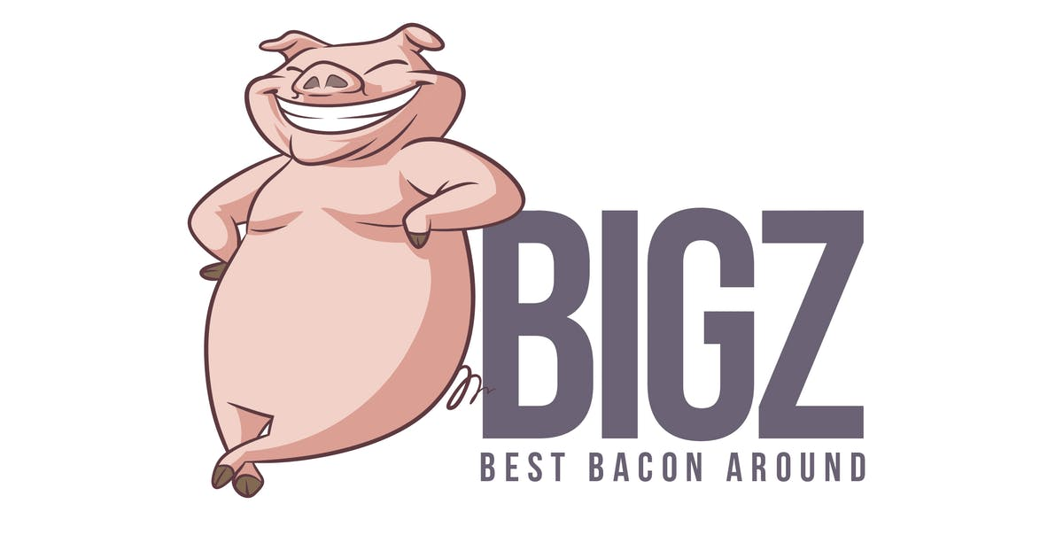 Download Cartoon Happy Pig Mascot Logo by Suhandi