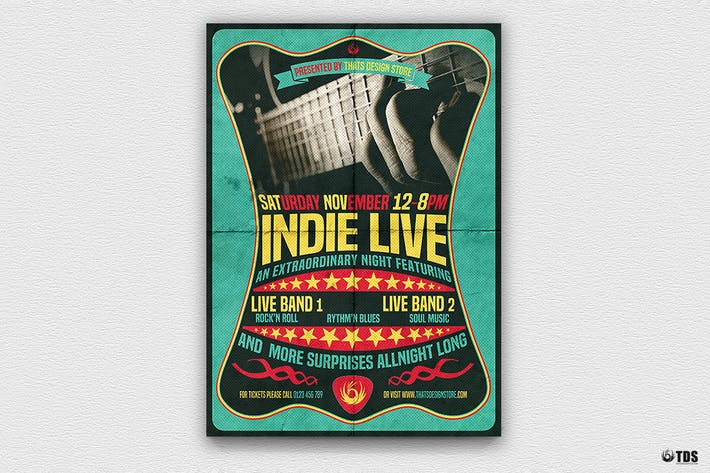 Thumbnail for Indie Live Flyer Template