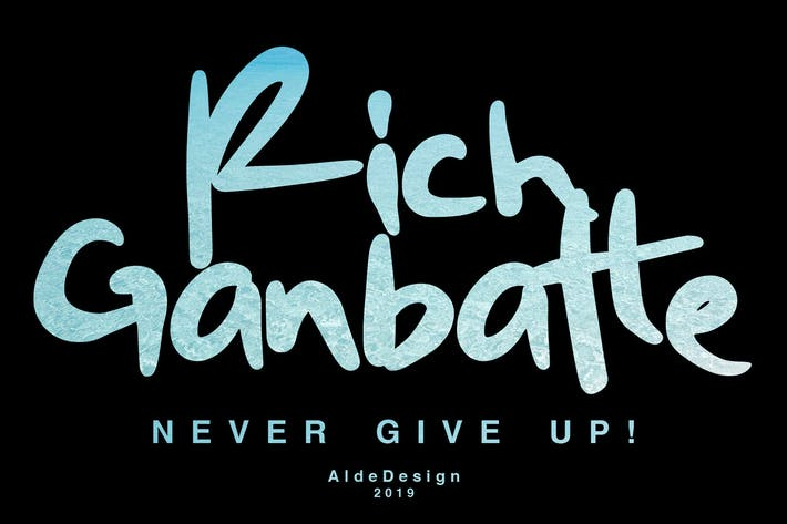 Thumbnail for Rich Ganbatte - Logotype Font