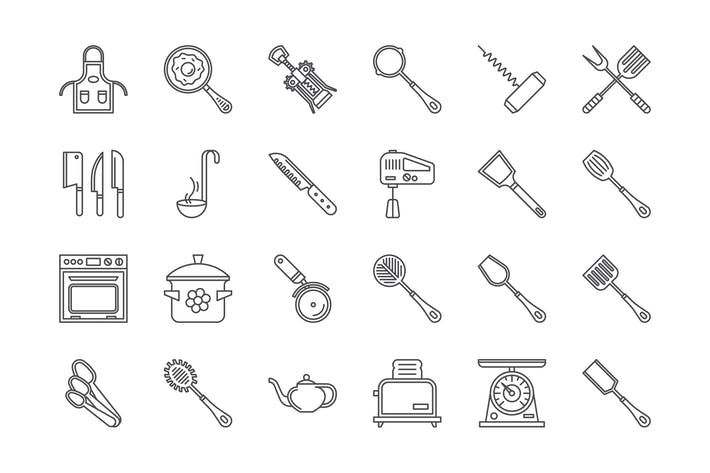 Thumbnail for 25 Kitchenware icons
