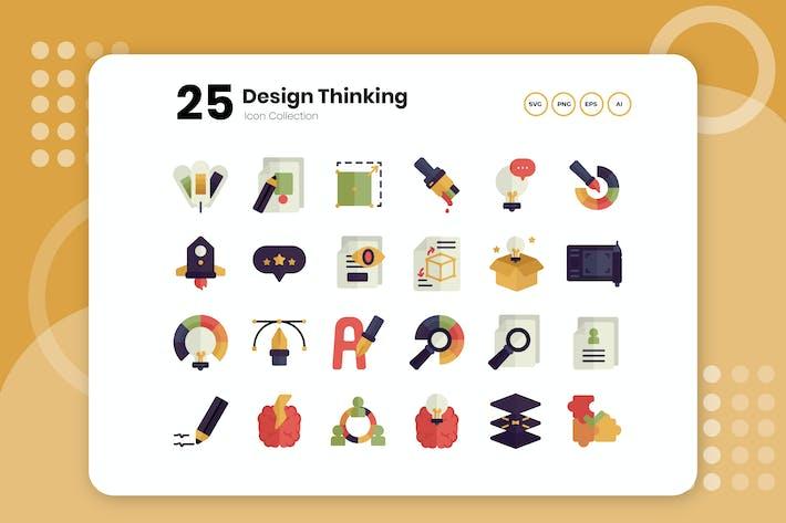 Thumbnail for 25 Design Thinking Flat Icon