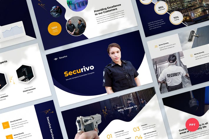 Thumbnail for Safety & Security Company Powerpoint Template