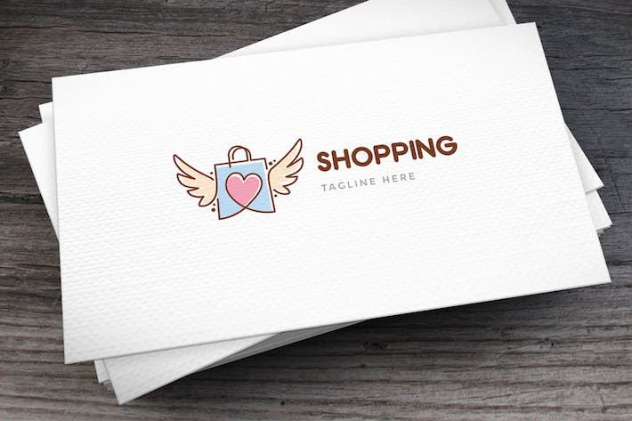 Thumbnail for Love Shopping Logo Template