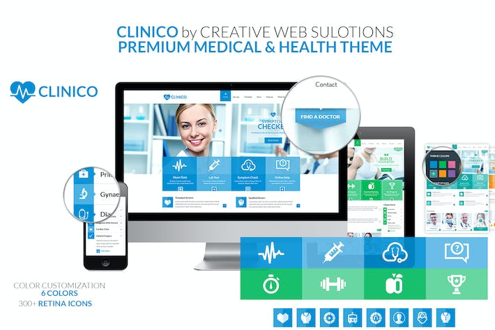 Cover Image For Clinico PSD Template