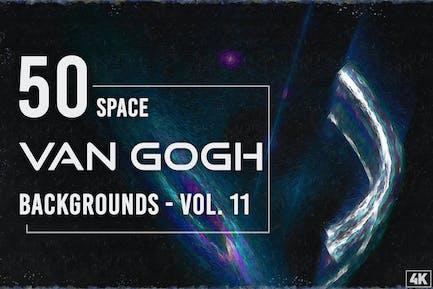 50 Van Gogh Weltraum-Hintergründe - Band 11