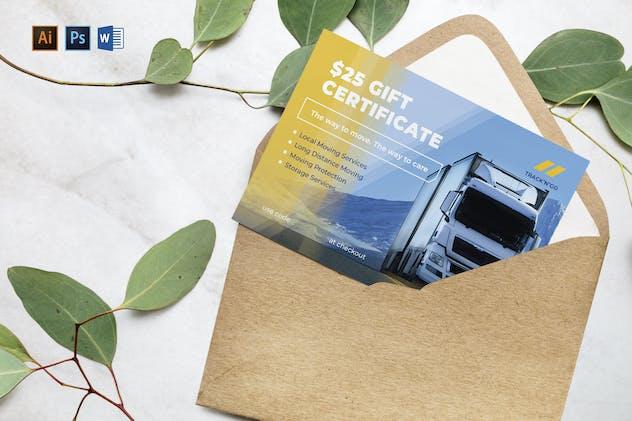Trucking Logistics Gift Certificate