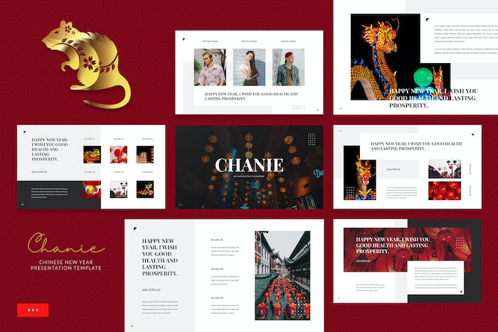 Thumbnail for Chanie - Chinese New Year Powerpoint Template