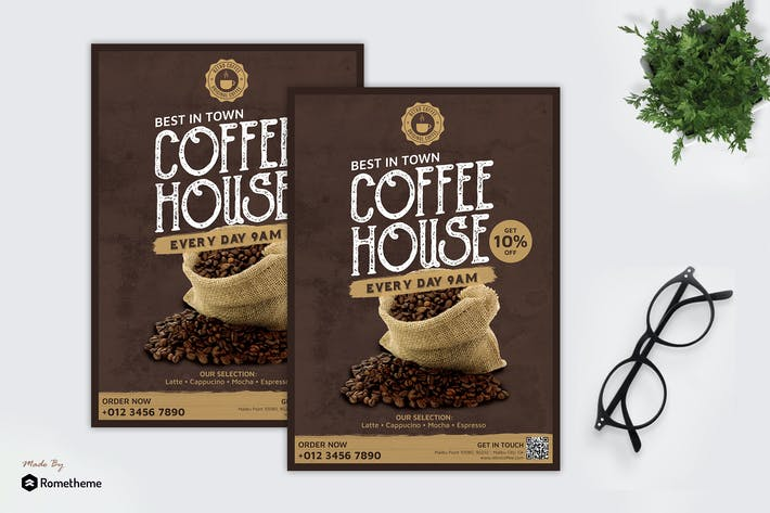 Thumbnail for Retro Coffee - Product Flyer RB