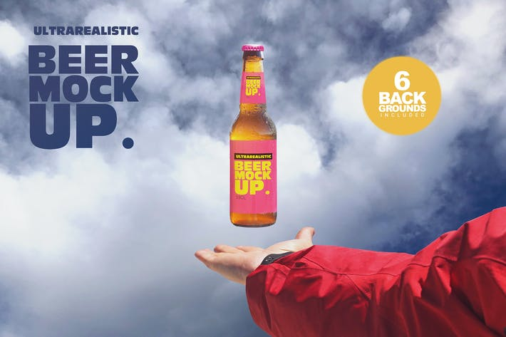Thumbnail for Levitating Beer Mockup