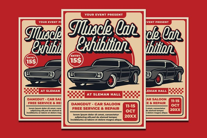 Thumbnail for Muscle Car Exhibition Flyer Template