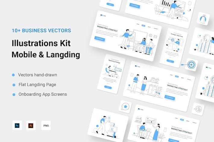 Комплект для бизнес-иллюстраций