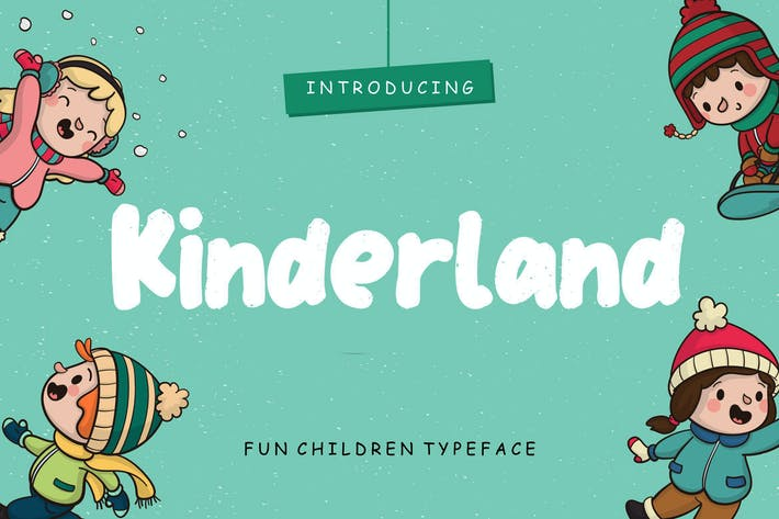 Thumbnail for Kinderland Fun Children Typeface