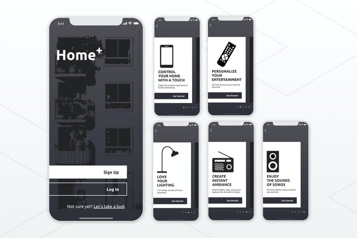 Thumbnail for SmartHome LaunchScreen Walkthrough Mobile UI - FD