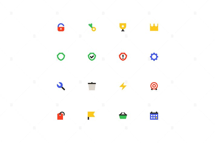 Thumbnail for Business and protection - material design icons