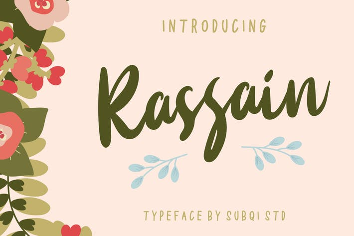 Thumbnail for AMR Rassain Typeface