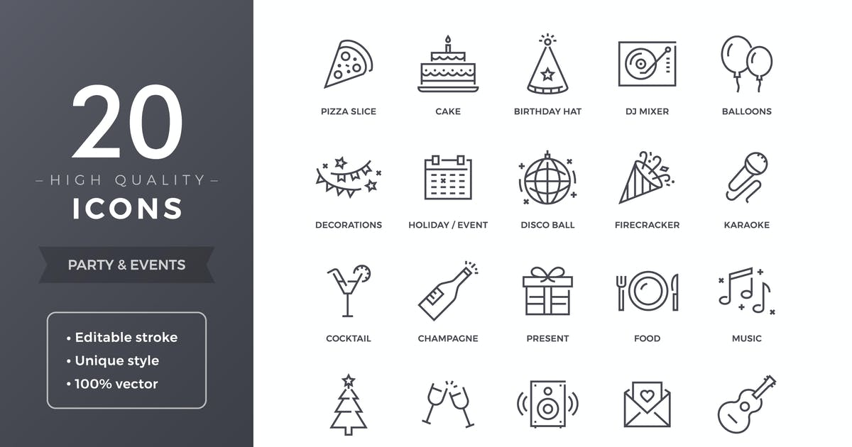 Party Icons by filborg