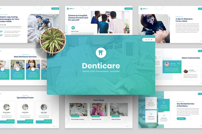 Dentist & Dental Clinic PowerPoint Template