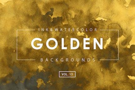 Golden Ink Backgrounds 13