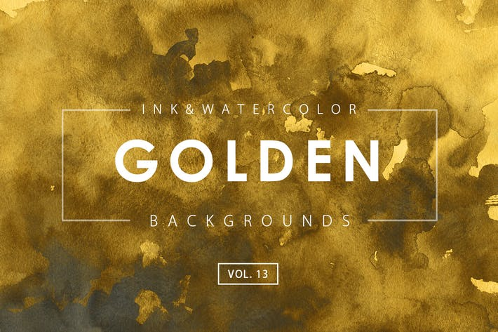 Thumbnail for Golden Ink Backgrounds 13