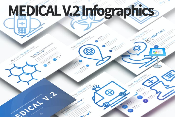 Thumbnail for MEDICAL V.2 - Keynote Infographics Slides