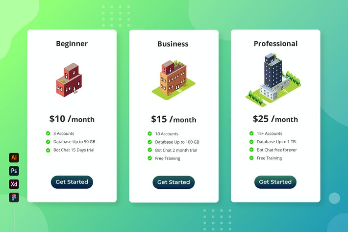 Thumbnail for Isometric Building - Cloud Database Pricing Table