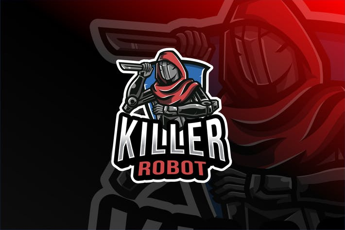 Thumbnail for Killer Robot Esport Logo Template