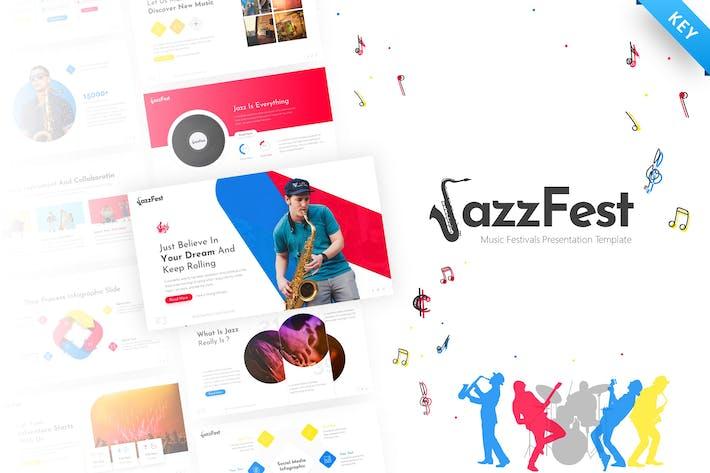 JazzFest - Творческий Keynote Шаблон