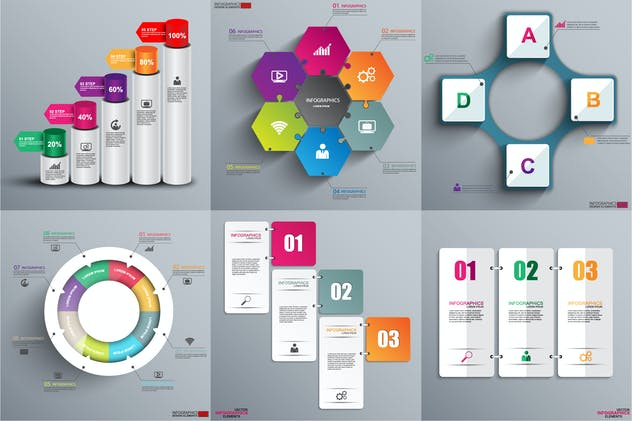 Abstract 3D Infographics - product preview 0