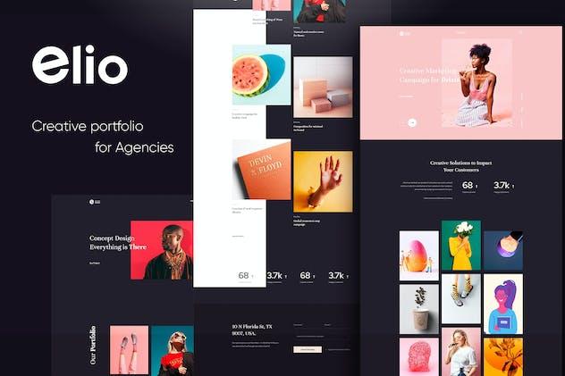 Elio Creative Agency PSD Template