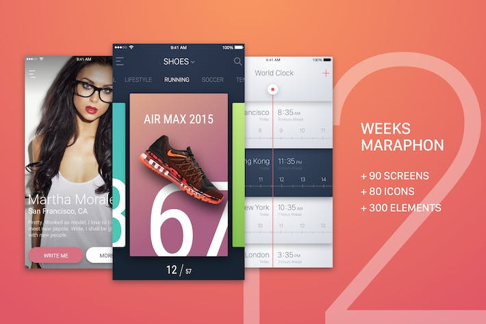 Thumbnail for 12 Weeks Marathon UI Kit