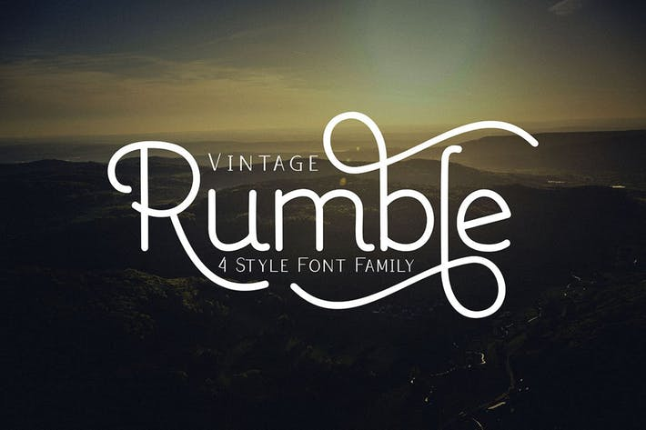 Thumbnail for Rumble 4 Font