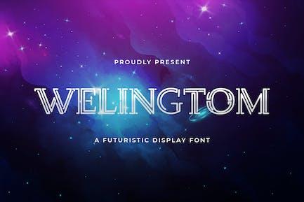 Welingtom - Police d'affichage futuriste