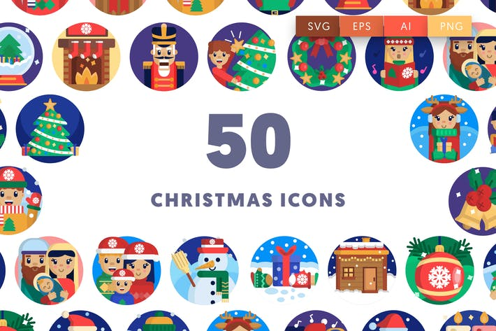 Thumbnail for 50 Christmas Icons