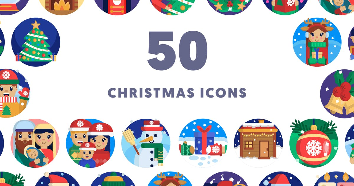 Download 50 Christmas Icons by thedighital