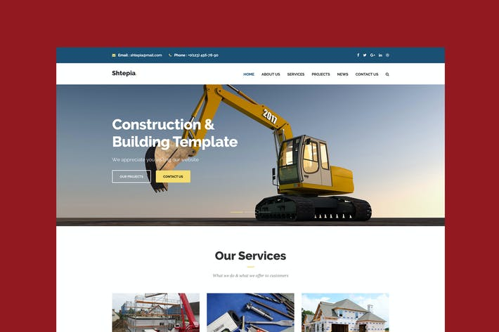 Thumbnail for Shtepia - Construction & Construction modèle HTML5