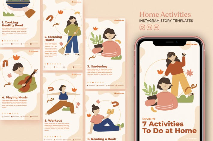 Thumbnail for Home Activity Instagram Story Templates